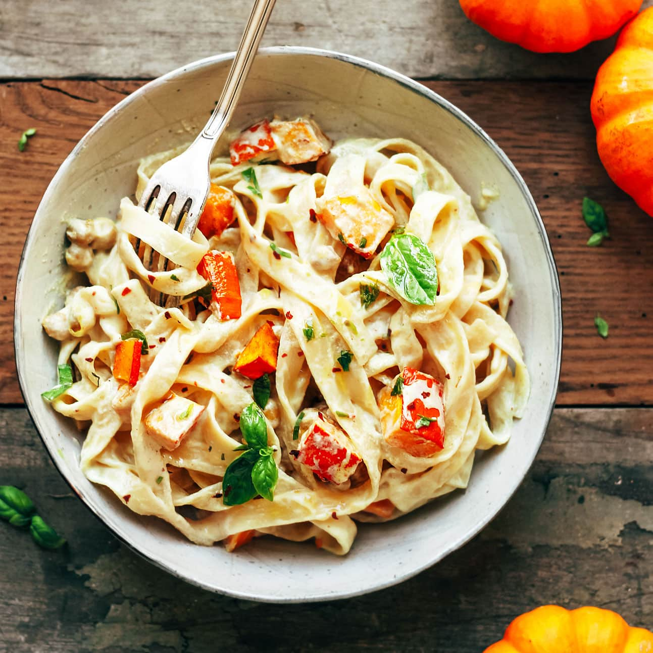 Pumpkin & Chickpea Pasta with Creamy Miso Sauce - Full of ...